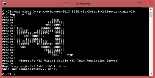 Edward Thomson: The Visual Studio ASCII Art Logo in TFS